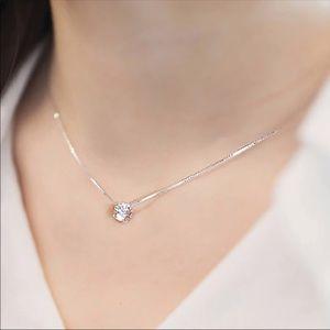 Crystal zircon rhinestone necklace